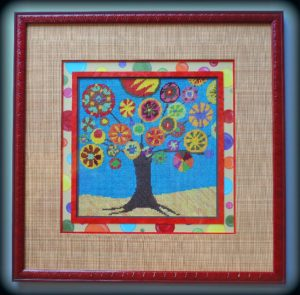 Artisans Corner Gallery Custom Picture Framing Needlepoint framed with hand painted accent