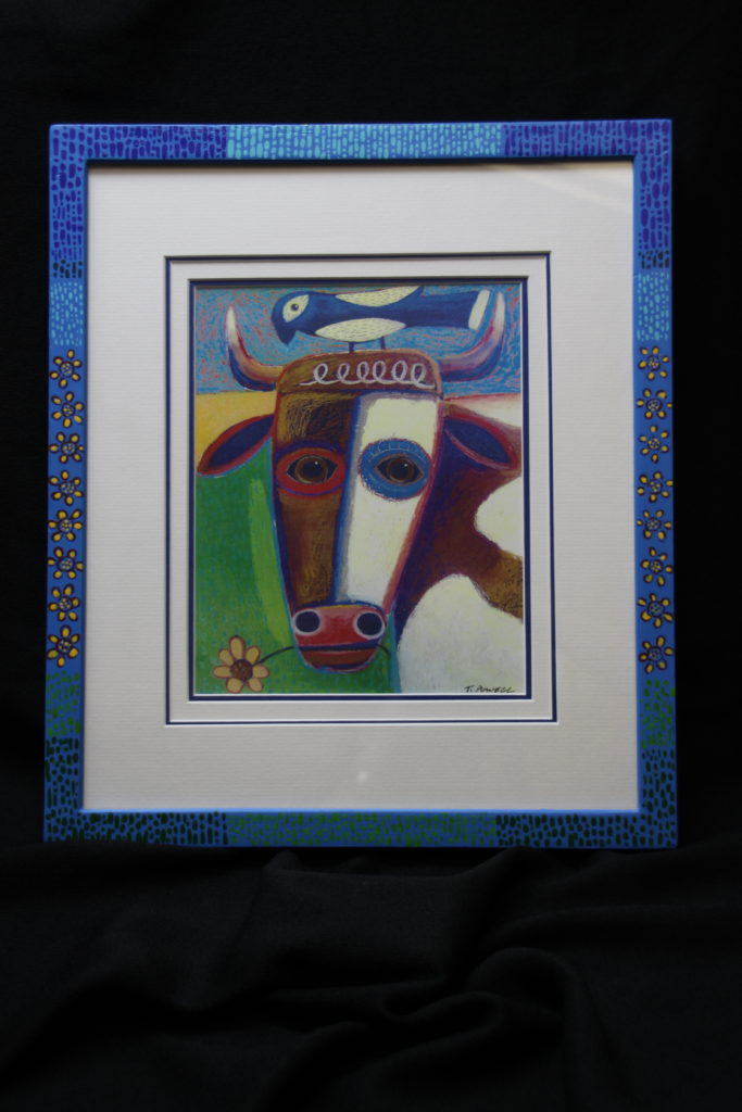 Artisans Corner Gallery Custom Picture Framing Hand Painted Frame