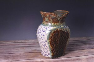 Artisans Corner Gallery Vase Joy Ingram Brown bear Pottery