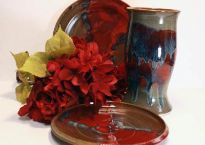 Artisans Corner Gallery Brown Bear Pottery Red Velvet