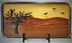 Metal & Wood Landscape Marc Blachman (SOLD)