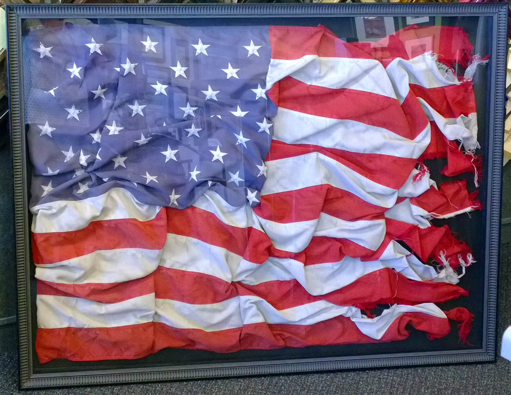 Artisans Corner Gallery Framing Flag Shadowbox
