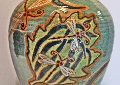 Artisans Corner Gallery Parsley Pottery vase