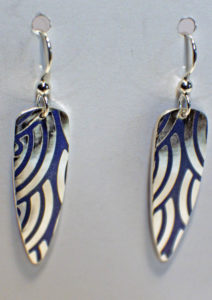 Artisans Corner Gallery Terri Hickey Jewelry Champleve earrings