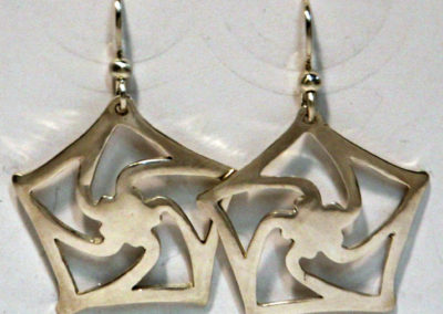 Artisans Corner Gallery Terri Hickey Jewelry Ninja Star Earrings