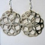 Artisans Corner Gallery Terri Hickey Jewelry Sterling Lace Flower Earrings