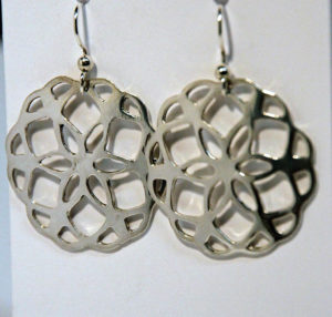 Artisans Corner Gallery Terri Hickey Jewelry Sterling Lace Flower Earrings