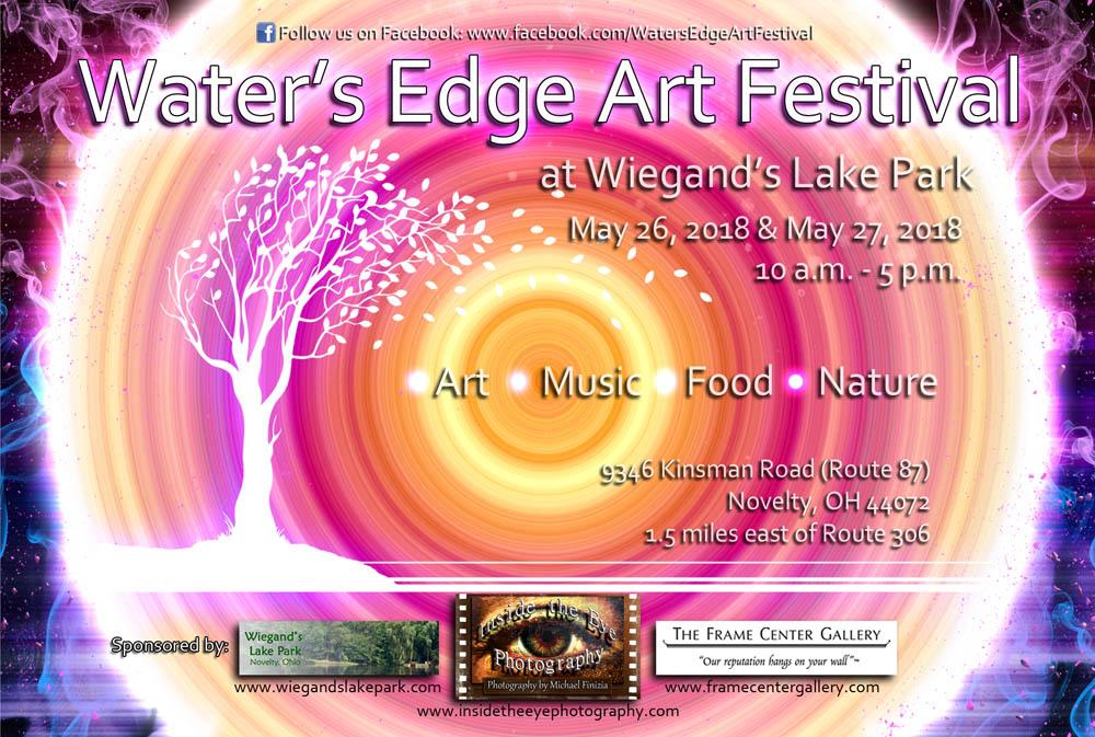 Waters Edge Art Festival 2018 Postcard