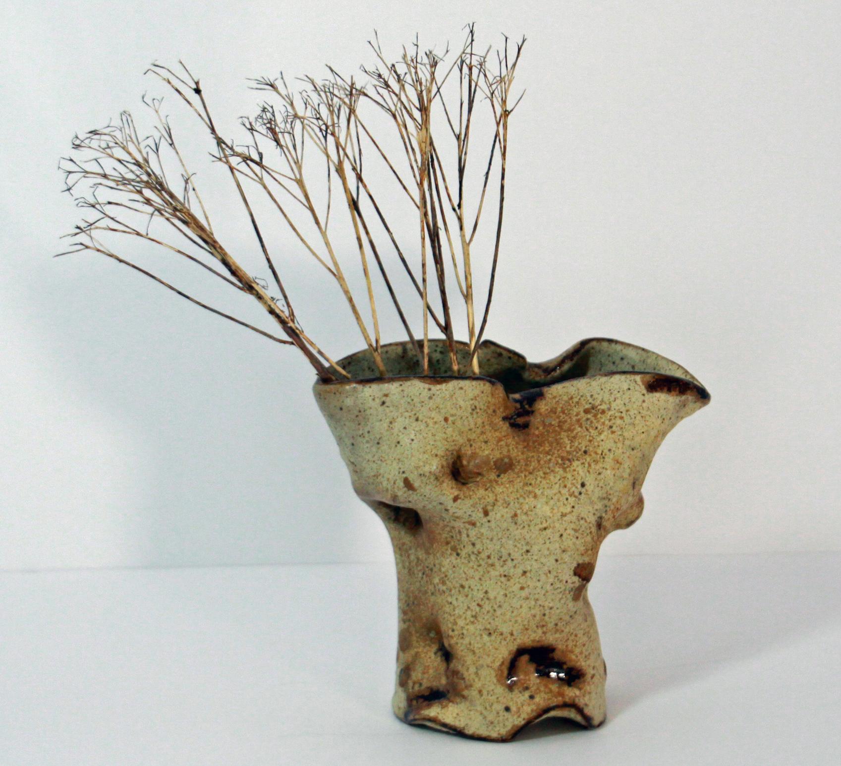 Alabaster Pinched Vase
