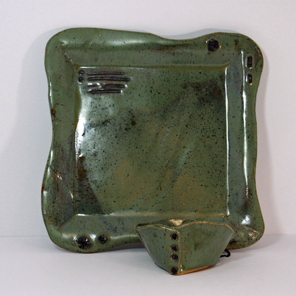 sea-green-plate-and-bowl-kc-henry-pottery-artisans-corner-gallery