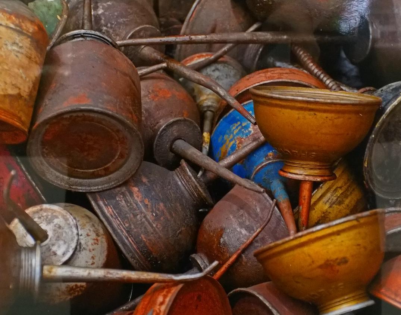 Oil Cans by Joanne L. Orichella