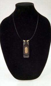 Ebony and Stone Necklace Artisans Corner Gallery