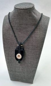 Ebony and Shell Necklace Artisans Corner Gallery