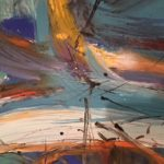 KH @ Artisans Corner Gallery Abstract 4 by Karen Hopwood