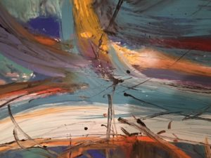 KH @ Artisans Corner Gallery Abstract 4 by Karen Hopwood