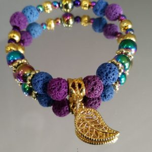 Jewel Toned Gold Bracelet