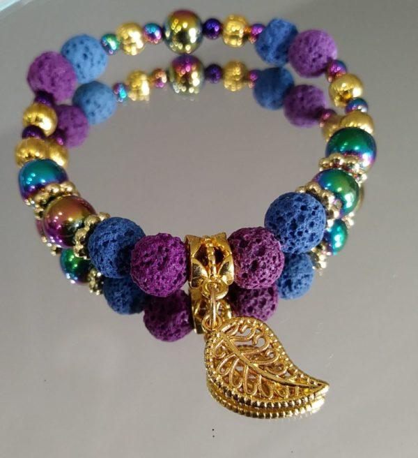 Jewel Toned Gold Bracelet