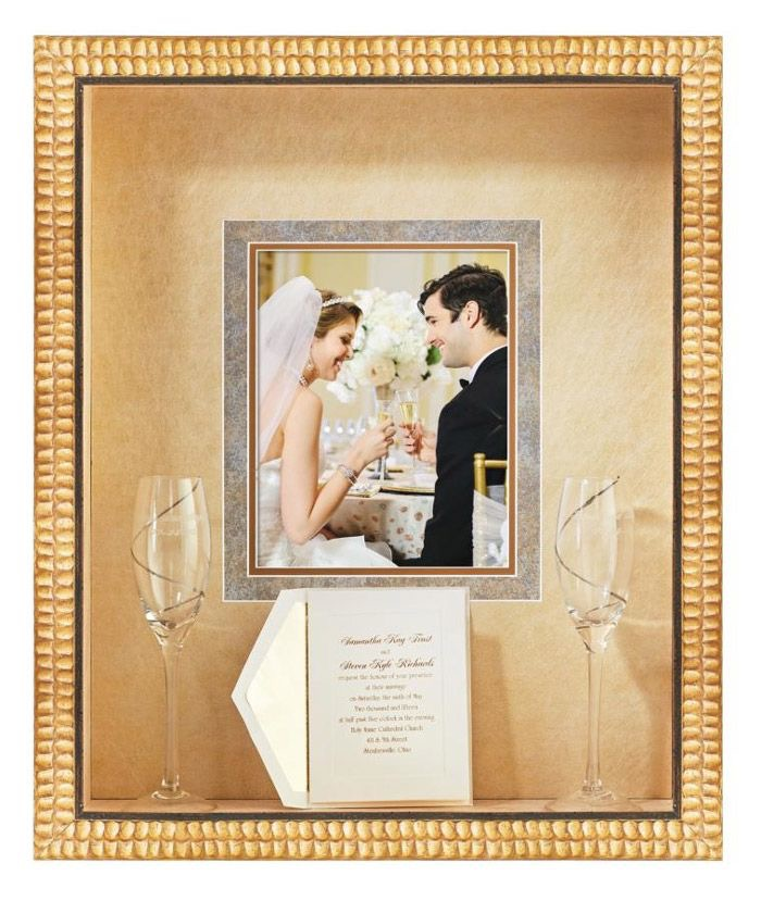 Artisans Corner Gallery Custom Picture Framing Wedding Shadow Box Example
