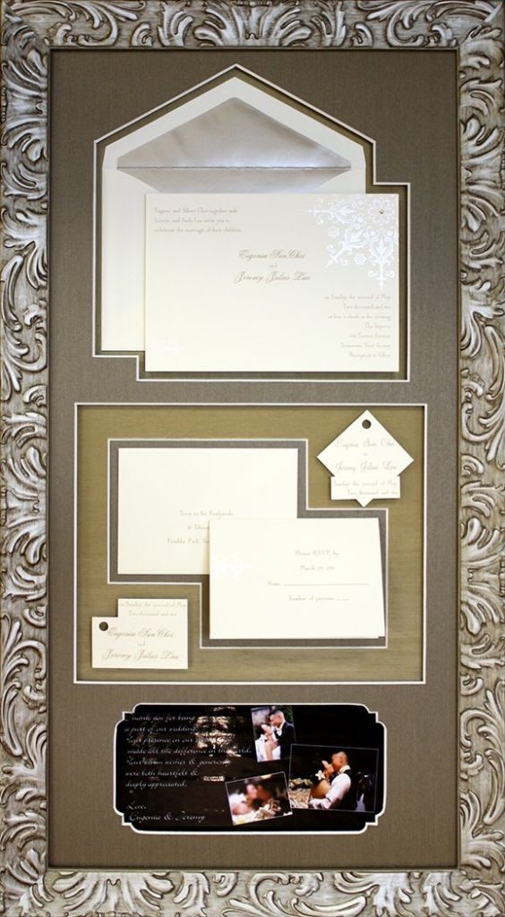 Artisans Corner Gallery Custom Picture Framing Wedding invitation Example