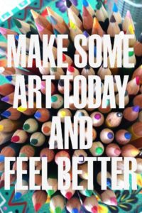 make some art today and feel better with colored pencil background