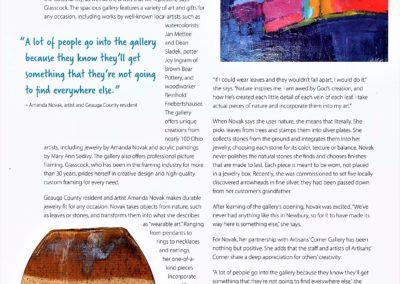 Artisans Corner Gallery article GB pg 2
