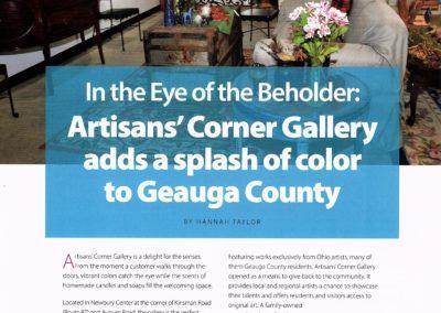 Artisans Corner Gallery article GB pg1