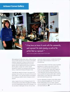 Artisans Corner Gallery article GB pg3