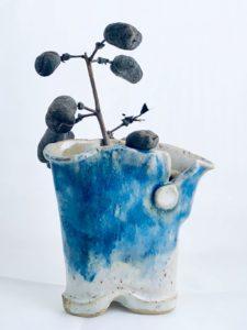 Artisans Corner Gallery KC Henry Organic Pottery blue