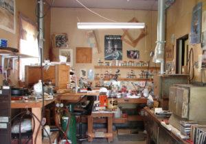 Glass bead making studio