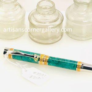 Green Dyed Deluxe Wood Ballpoint Pen