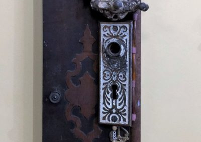Re-found objects Assemblage Artwork House Lock Plate