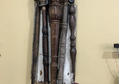 Re-found objects Assemblage Artwork Faces and Spindles