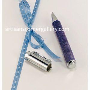 Purple dyed maple pen