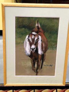 Goat Pastel Artwork