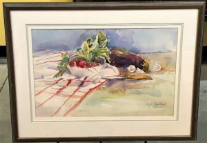 Watercolor painting Still Life of Vegetables