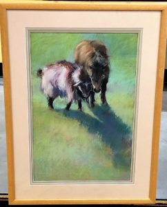 Goat and Pony Pastel artwork